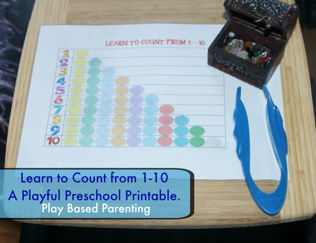Preschool learning to count to 10