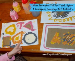 make sensory puffy paint spice