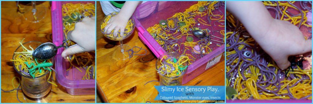 sensory spaghetti play
