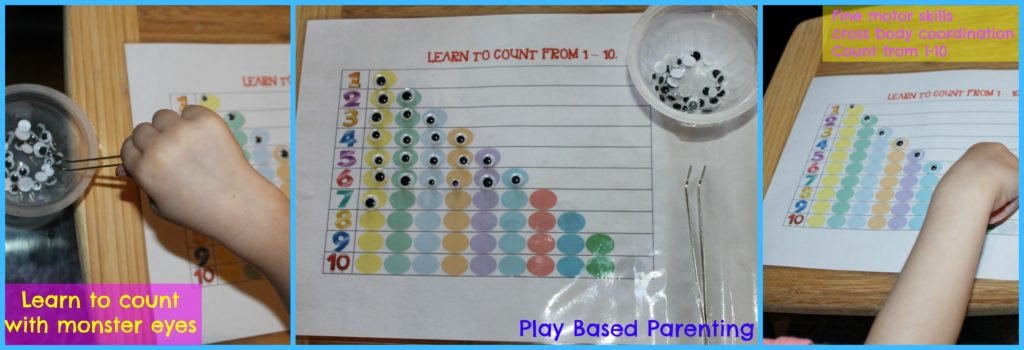 learn to count with monster eyes