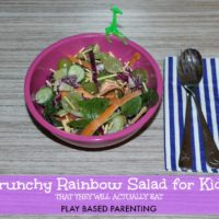 Crunchy Salad for Kids – A Rainbow Salad children will love.