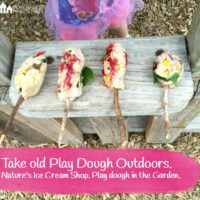Play Dough Outdoors : Natures Ice-cream Shop