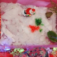 Christmas Sensory bin – Snow in Australia