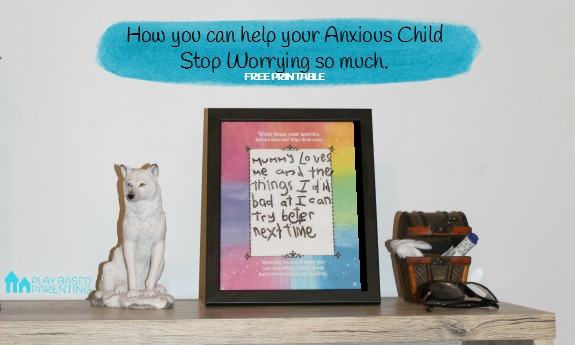 Help anxious kids stop worrying so much with this free printable frame