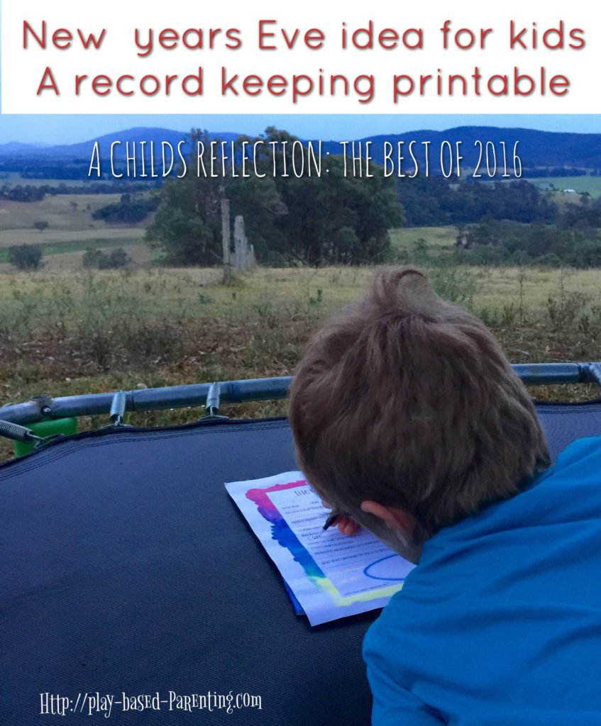 New Years Eve idea for kids the best of 2016 record keeping form