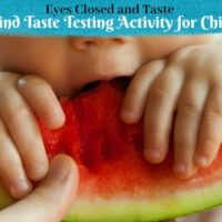 Eyes Closed and Taste! A Blind Taste Testing Activity for Sensory Fun