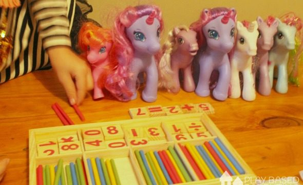 Early numeracy and Math skills with my little ponies