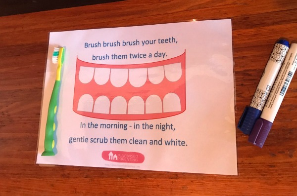 free teeth brushing activities for kids