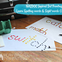 Naidoc inspired dot Painting Spelling words & Literacy – No Homework series
