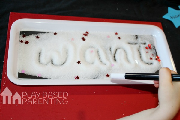 No Homework Series - Magic spelling words tactile tray
