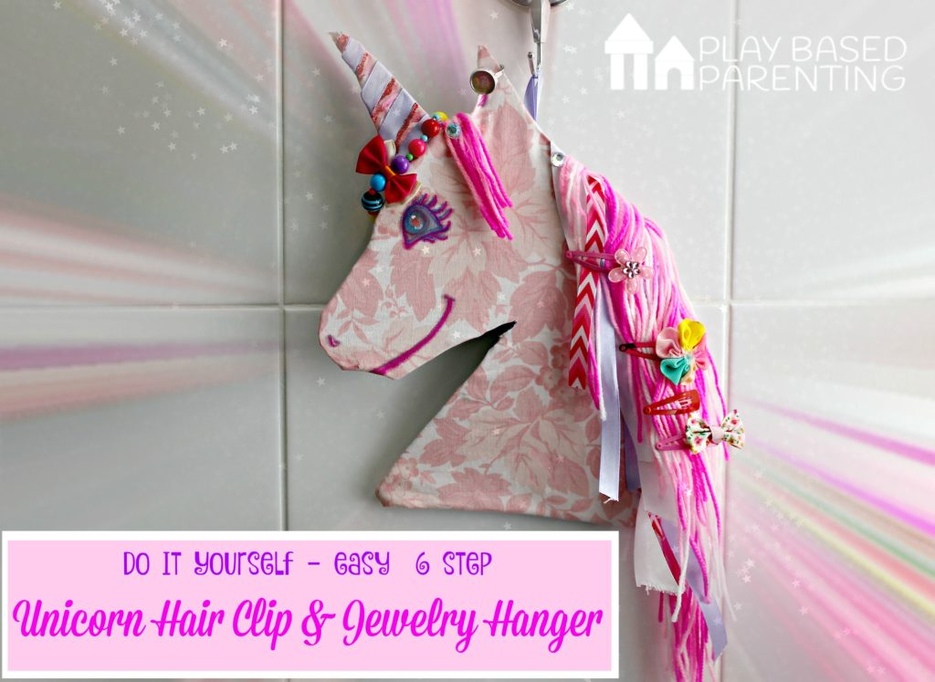 Easy 6 step DIY Unicorn hair clip holder