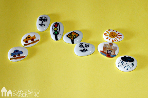 increase your child's vocabulary with this social skill tool. Easy DIY story stones