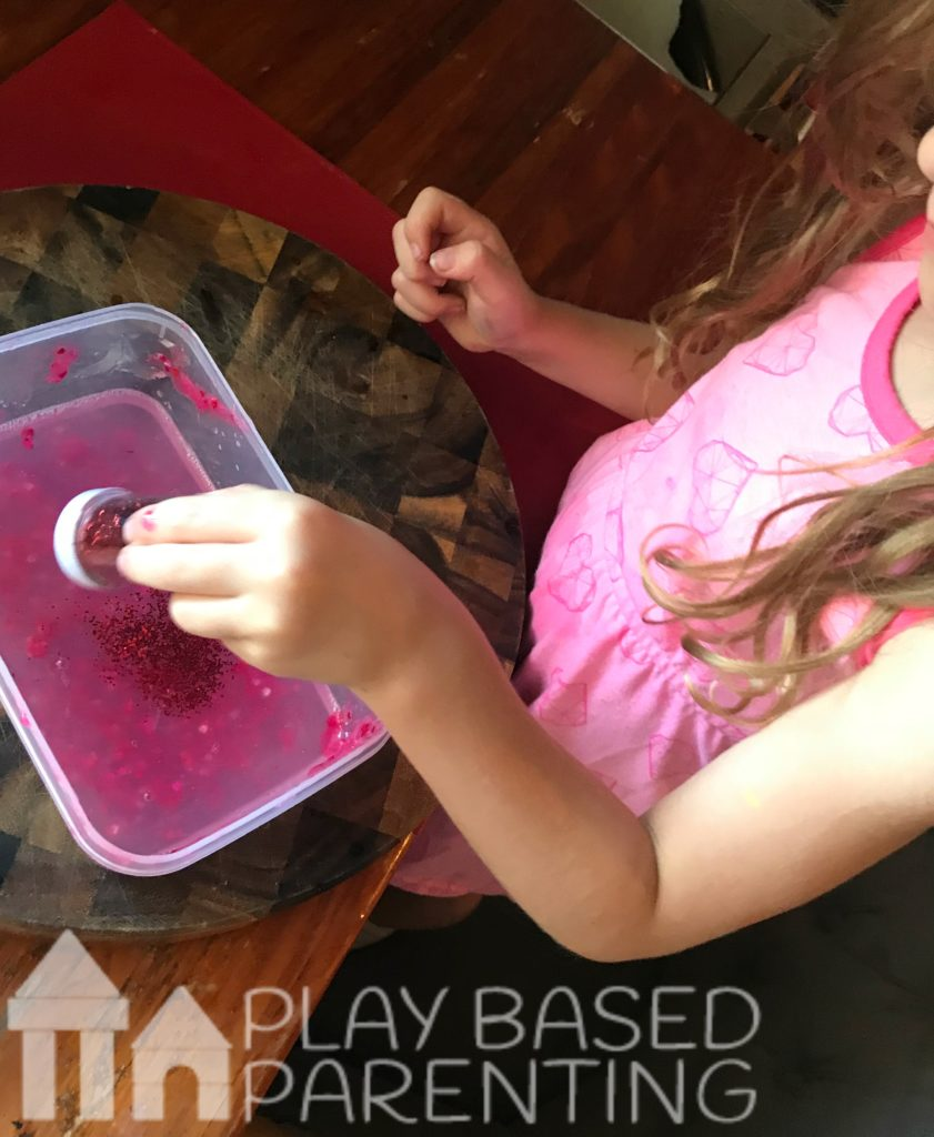 sparkle valentine's day slime recipe