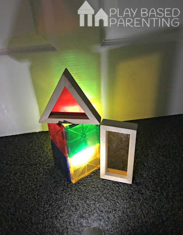 rainbow window block play ideas