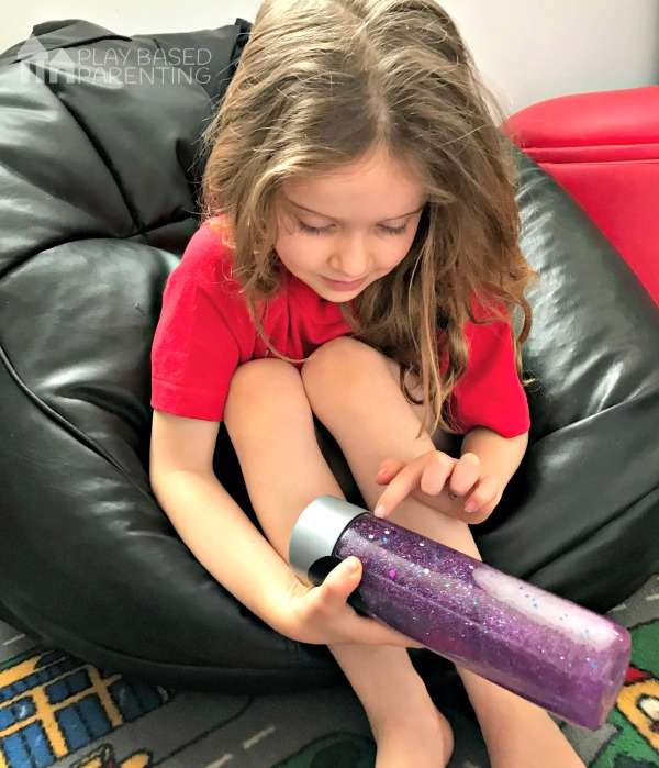 Easy Calm down sensory bottle for time out and calm play