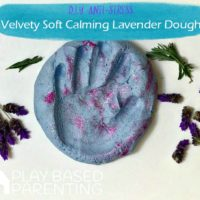 Anti-stress calming lavender dough recipe for emotional regulation