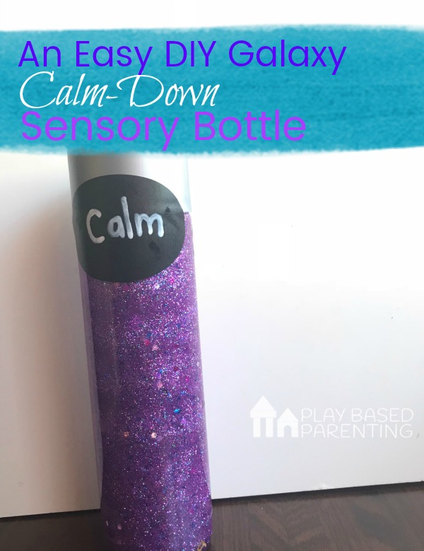 easy DIY Galaxy calm down sensory bottle