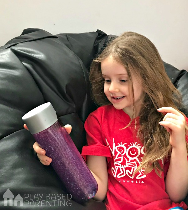 easy calm down sensory bottle for emotional regulation and time out strategies