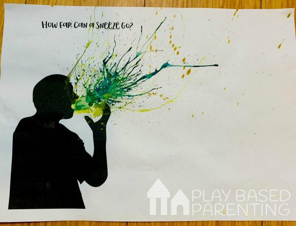 Teach Children Cough Etiquette art activity