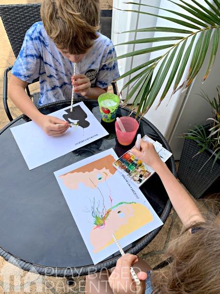 Teach Children Cough Etiquette art activity and printable