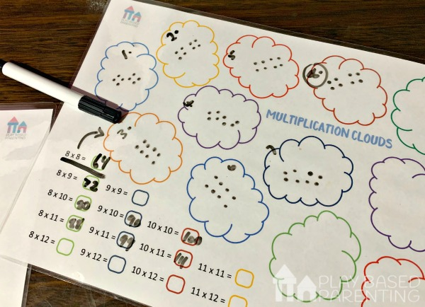 help child with multiplication visual spatial learner